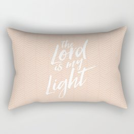The Lord is my light, hand lettered, pattern  Rectangular Pillow
