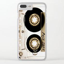 Retro classic vintage transparent mix cassette tape Clear iPhone Case