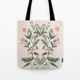Modern Folk Art Tote Bag