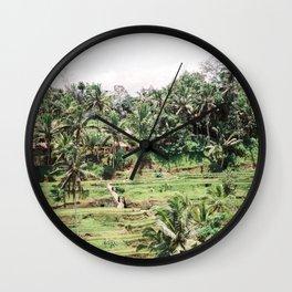 Tegalalang Rice fields near Ubud Bali, Indonesia | Travel film photography wall art Wall Clock