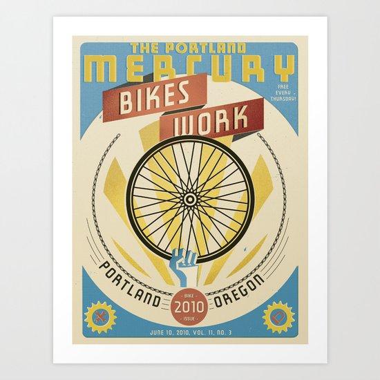 Portland Mercury Bike Issue cover  Art Print