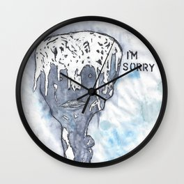 I'm Sorry Wall Clock