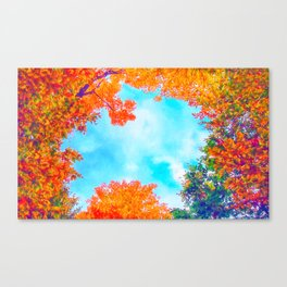 Autumn's Window Canvas Print