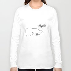 A whale and a book Long Sleeve T-shirt
