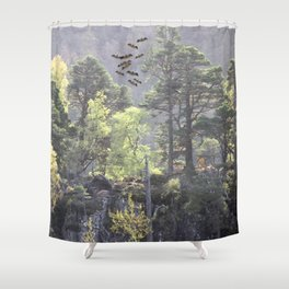 A Dream Pang Shower Curtain
