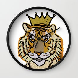 Tiger wearing Crown Wall Clock