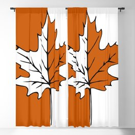 Maple Leaf (orange + white) Blackout Curtain