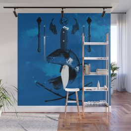Carp and Melee Weapons Wall Mural
