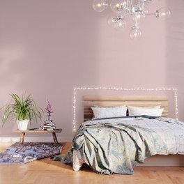 Large Lush Blush Pink and White Gingham Check Wallpaper