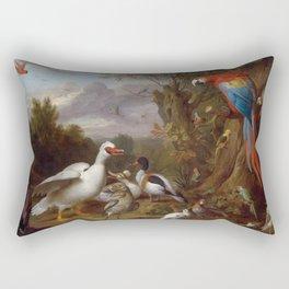 Vintage Bird Painting by Jacob Bogdani, 1708 Rectangular Pillow