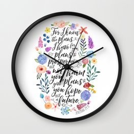 Hope and a Future - Jeremiah 29:11 Wall Clock