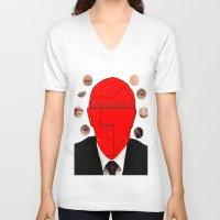 putin V-neck T-shirts featuring Putin-Quiz  by Alessandro De Vita