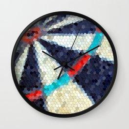 Dartboard target mosaic tile Wall Clock