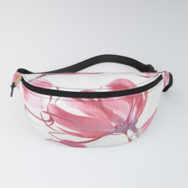 Dusty Pink & Lavender Flowers watercolor Fanny Pack