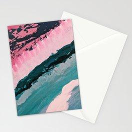 ECHO BEACH BABY   Acrylic abstract art by Natalie Burnett Art Stationery Cards