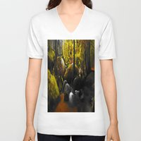 moss V-neck T-shirts featuring Moss by Nev3r