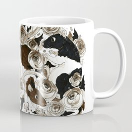 Rats and Peonies Coffee Mug