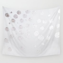 Silver and White Wall Tapestry