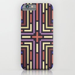 Geometrical labyrinth for home decoration iPhone Case
