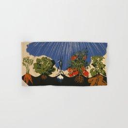 Vintage Vegetable Garden Illustration (1943) Hand & Bath Towel