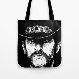 A portrait of Lemmy Kilmister of Motorhead Tote Bag
