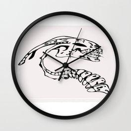 Skeleton of the beast Wall Clock