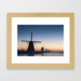 Windmills at Sunrise IV Framed Art Print