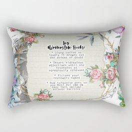 #WritersLife Hacks Quote Rectangular Pillow