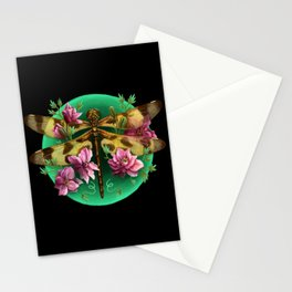 Halloween Pennant Dragonfly Stationery Cards