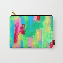 Just Have Fun no.0 mint green abstract painting modern drawing expressionism nature lines pattern Carry-All Pouch