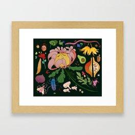 Magical flowers of Lamiak Framed Art Print