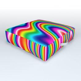 Rainbow Waves Outdoor Floor Cushion
