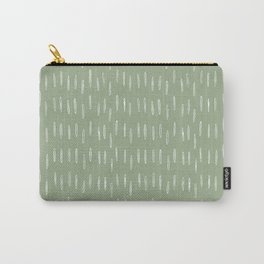 Raindrop Boho Abstract Pattern, Sage Green Carry-All Pouch