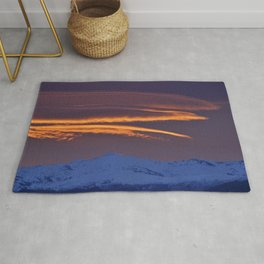 """Sunrise at the mountains"" Rug"