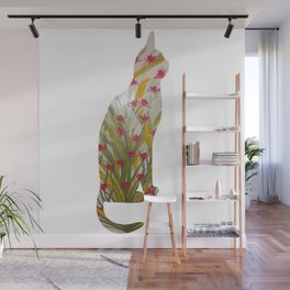 Red Bud Cat Wall Mural