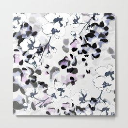 Orchid Interruption Abstract Print Metal Print