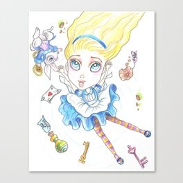 Alice In Wonderland Again Canvas Print