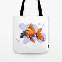 breathe Tote Bags featuring Breathe by rob art | simple