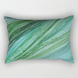 Green Agate Geode Slice Rectangular Pillow