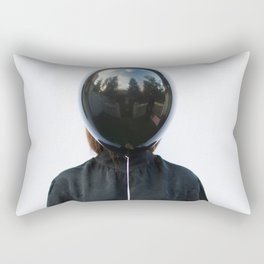 Behind the balloon Rectangular Pillow