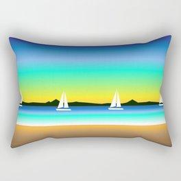 Nautical landscape Rectangular Pillow