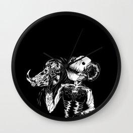 Faux King Wall Clock