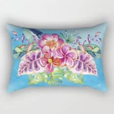 Tropical Jungle Flowers - Aloha Beach - on #Society6 Rectangular Pillow