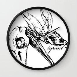"TYRANT ""Sketchy Skulls"" Wall Clock"