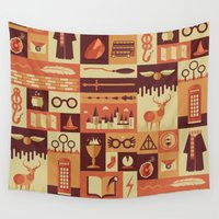 risa rodil Wall Tapestries featuring Accio Items by Risa Rodil