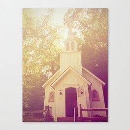 Little White Church Canvas Print