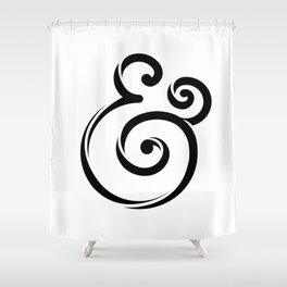 InclusiveKind Ampersand Shower Curtain