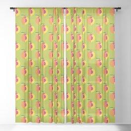 Fruit: Peach Sheer Curtain