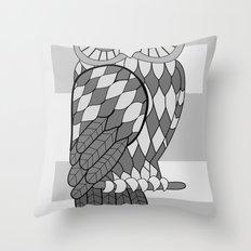 The Wide Awake Owl Throw Pillow