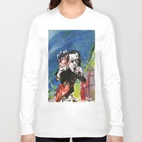 nick cave Long Sleeve T-shirts featuring Nick Cave Red Right Hand by Caitlyn Shea